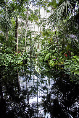 Photograph - Botanical Gardens Dome Reflection Pond  by Jerry Cowart
