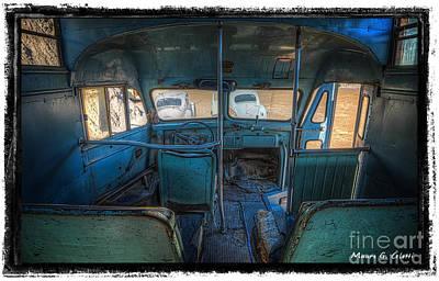 Inside Bus 1 Art Print