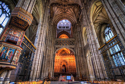 England Photograph - Inside Canterbury Cathedral by Tim Stanley