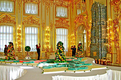Catherine Palace In Russia Photograph - Inside Catherine's Palace In Pushkin-russia by Ruth Hager