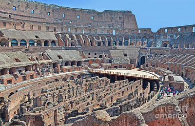Photograph - Inside Colosseum by Jack Moskovita