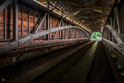 Photograph - Inside Covered Bridge by Pat Scanlon