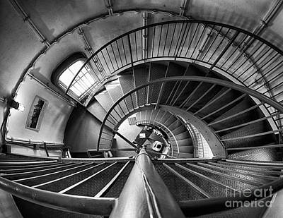 Photograph - Inside Edgartown Lighthouse 3 by Mark Miller