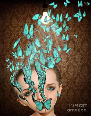 Inside Her Head Art Print by Juli Scalzi
