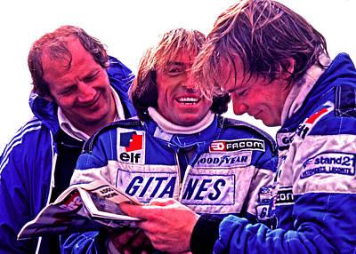 Didier Pironi Photograph - Inside Joke by Mike Flynn