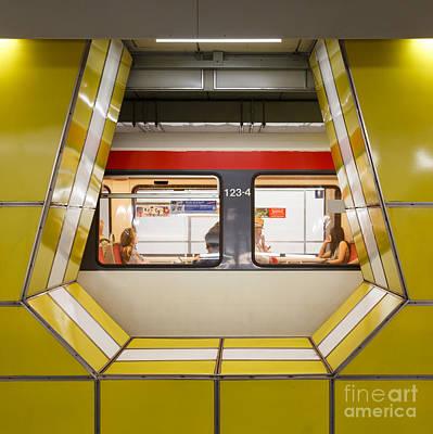 Inside Jungfernstieg Subway Station Print by Jannis Werner