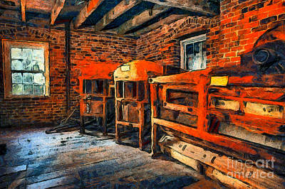 Inside Kerr Mill II - North Carolina Art Print by Dan Carmichael