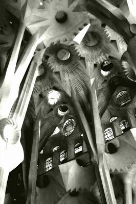 inside La Sagrada Familia Art Print