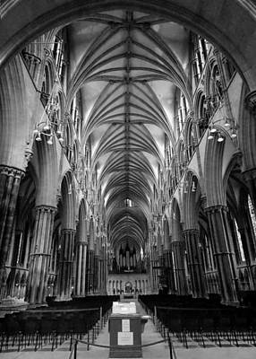 Photograph - Inside Lincoln Cathedral by Chris Cox