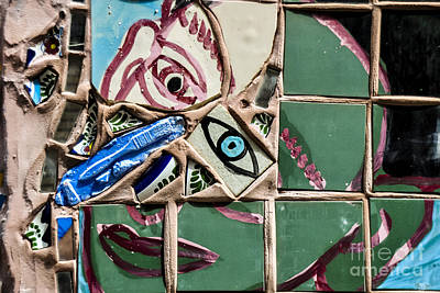 Nyc Subway Mosaic Photograph - Inside Looking Out 2 by Gary Keesler