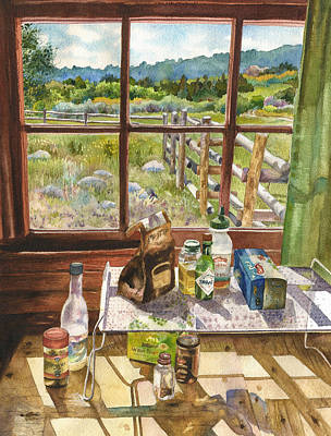 Homestead Painting - Inside My Cabin by Anne Gifford
