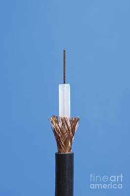 Inside Of Coaxial Cable Print by GIPhotoStock