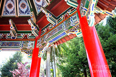 Inside Of The Stow Lake Pagoda Print by Jim Fitzpatrick