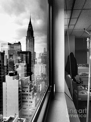 Photograph - Inside Outside - Chrysler Building And Office Window by Miriam Danar