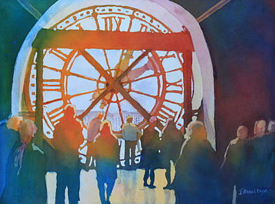 Inside Paris Time Art Print by Jenny Armitage