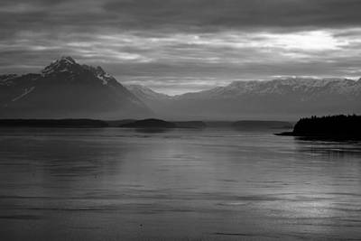Photograph - Inside Passage Black And White by Robert  Moss