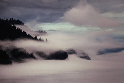 Alaskan Cruise Photograph - Inside Passage In The Mist by Vicki Jauron