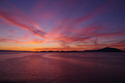Photograph - Inside Passage Sunset by Marilyn Wilson