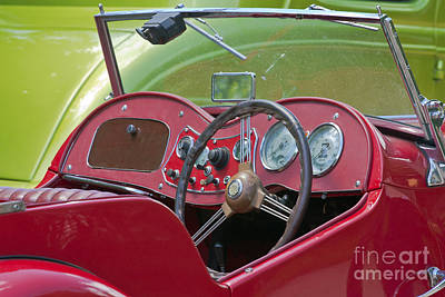 Photograph - Red Mg-td Convertible  by Terri Waters