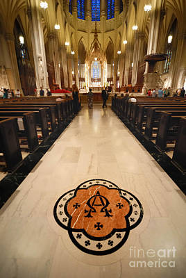 Mass Photograph - Inside St Patricks Cathedral New York City by Amy Cicconi