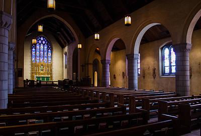 Photograph - Inside St Paul's Parish by Allen Sheffield
