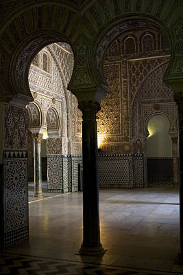 Inside The Alcazar Of Seville Art Print by Lorraine Devon Wilke