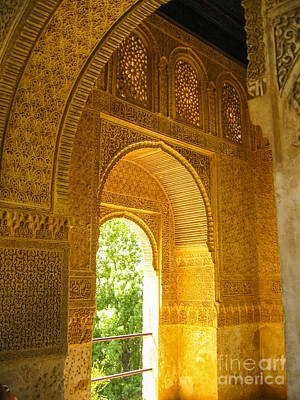 Photograph - inside the Alhambra palace by Patricia Hofmeester