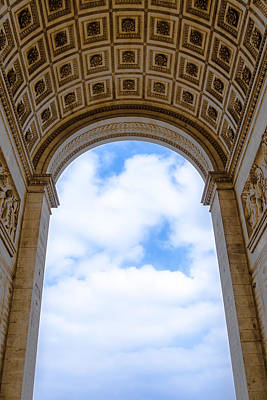 Photograph - Inside The Arch Of Triumph by Nila Newsom