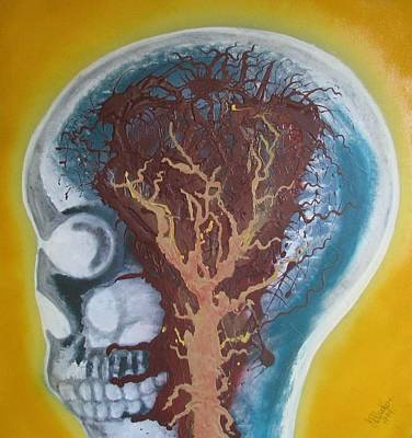 Wall Art - Painting - Inside The Brain by Joan Stratton