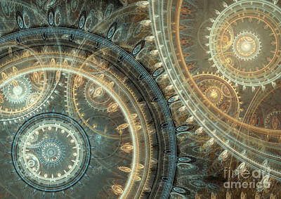 Digital Art - Inside The Clock by Martin Capek