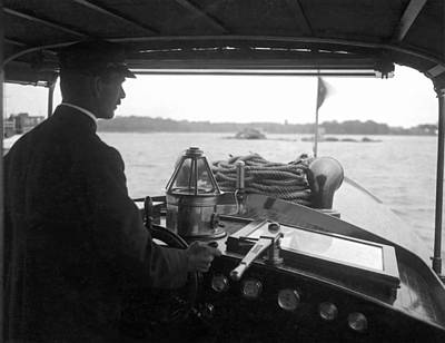 Cockpit Photograph - Inside The Cockpit Of A Launch by Underwood Archives