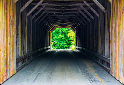 Photograph - Inside The Covered Bridge by Jason Brow