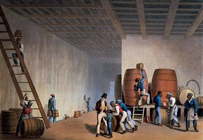 Inside The Distillery, From Ten Views Print by William Clark