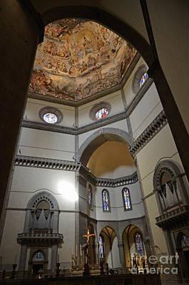 Inside The Duomo Of Florence Art Print by Sami Sarkis