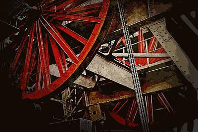 Photograph - Inside The Eiffel by Greg Sharpe