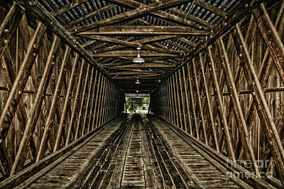 Photograph - Inside The Euharlee Bridge by Barbara Bowen