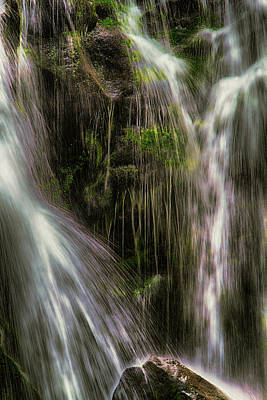 Mixed Media - Inside The Falls by John Haldane