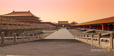 Chinese Architecture Photograph - Inside The Forbidden City by Delphimages Photo Creations