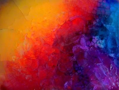 Digital Art - Inside The Gemstone - Colorful Druzy  by Lilia D