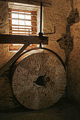 Photograph - Inside The Gristmill by Kristia Adams