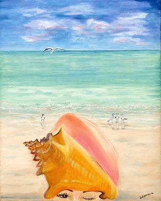 Painting - Inside The Head Of A Conch Woman by Linda Cabrera