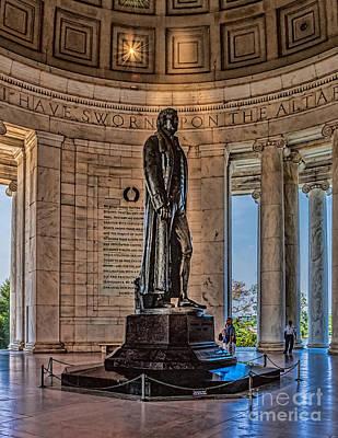 Photograph - Inside The Jefferson Memorial by Nick Zelinsky