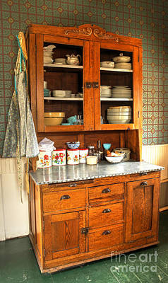 Photograph - Inside The Kitchen Cabinet by Steven Parker