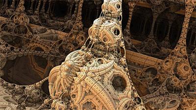 Space Jockey Digital Art - Inside The Leviathan by Spinning Angel