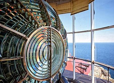 Inside The Lighthouse Art Print by Edward Fielding