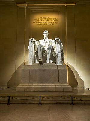 Photograph - Inside The Lincoln Memorial by David Morefield