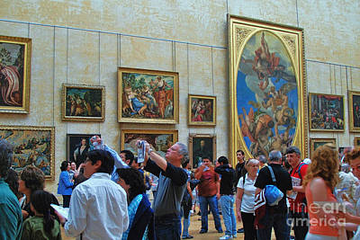 Photograph - Inside The Louvre 1 by Allen Beatty