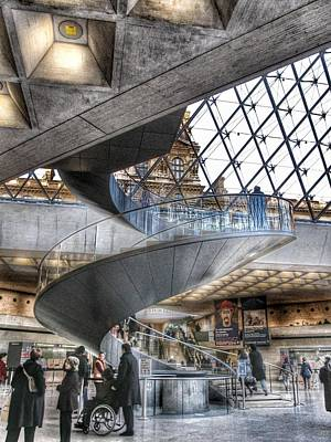Photograph - Inside The Louvre Museum In Paris by Marianna Mills