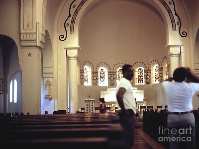 Photograph - Inside The Martinique Cathedral by Merton Allen