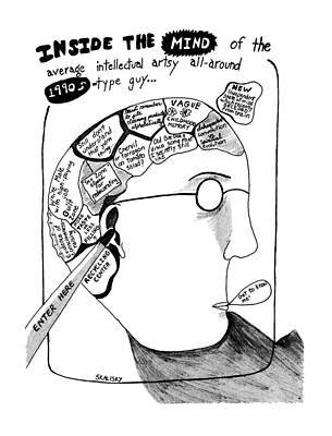 Mind Drawing - Inside The Mind Of The Average Intellectual Artsy by Stephanie Skalisk